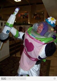 """OMG!!! I can't believe I came across this! hahaha it's my fav part of Toy Story when Buzz acts drunk at the tea party """"I am Mrs. Nesbit"""""""