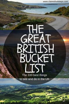 Great UK Bucket List: 100 things to do in the UK Planning a trip to the UK? This UK bucket list covers all of the best things to do in England, Scotland, Wales and Northern Ireland. If you are searching for the best British attractions; be they museums in Oh The Places You'll Go, Places To Travel, Places To Visit Uk, Nord England, England Uk, Cornwall England, Yorkshire England, Yorkshire Dales, St Ives England