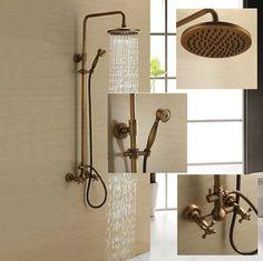 "8"" Shower Head Wall Mounted Bathroom with Handheld Shower Rainfall Faucet Set , Antique Brass Finish Y541735 Detroit Bathware - Antique Brass Shower Faucet http://www.amazon.com/dp/B00L07WNDY/ref=cm_sw_r_pi_dp_UwhIvb0T2JWC8"
