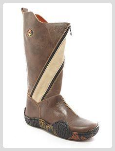 9848c539f4b6 Felmini - Damen Schuhe - Verlieben Clash 8666 - Schnürung Stiefel - Echte  Leder - Braun…   Stiefel für Frauen   Pinterest