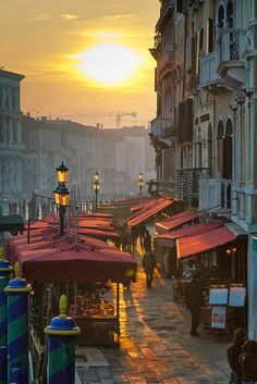 Venice market at sunset...