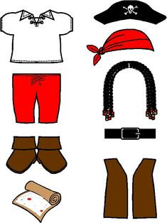 MakingFriends Pirate Paper Doll Friends Arrrrr you ready for a a precious pirate? Pintable includes treasure map, jolly roger hat, bandana skull cap, lace-up shirt, boots, vest, belt and long beaded hair.