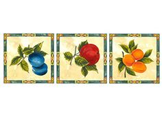 """124 Fruit Cluster Tray Tile Waterslide Ceramic Decals By The Sheet (5"""" X 5"""" * 3 pcs)"""