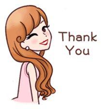 My elegant lifestyle sticker Love Cartoon Couple, Cute Cartoon Pictures, Cute Cartoon Girl, Cute Love Pictures, Cute Love Cartoons, Love Images, Art Pictures, Thank You Images, Jolie Phrase