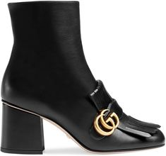 Leather ankle boot  #gucci #fashion #style