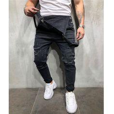 Ripped Jeans Denim Overalls For Man Pants Size Mens Jeans Ripped Jeans Style, Ripped Jeans Men, Overalls Outfit, Jeans Denim, Bib Overalls, Denim Dungarees, Clubwear, Harem Pants Men, Photo Tips