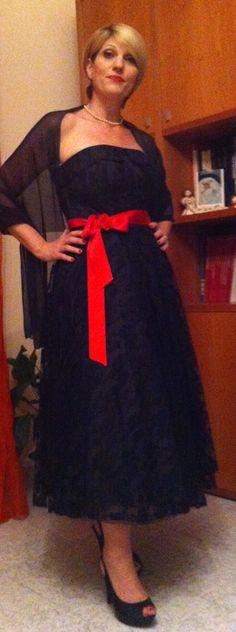Per il matrimonio della mia amica Abito vintage di pizzo nero di Vintachic