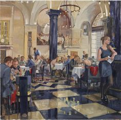 The Wolseley by Nick Botting The Wolseley, Lawrence Lee, Oil On Canvas, Medieval, Photography, Collections, Paintings, Artists, Dining