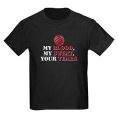 Blood Sweat Tears Kids Dark T-Shirt