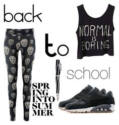 """#back to school"" by mimi1324 on Polyvore featuring NIKE and Visconti"