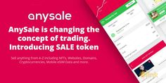 AnySale is simply put THEplace to make you profit. Simple as that.We designed AnySale very carefully to bring our Marketplace, Buying and Selling, trading NTFs, eSIM, Websites, Domain names, Applications, Staking, Exchanging Cryptocurrencies, Providing liquidity to every home in the world. Bring It On, Names, Make It Yourself, Website, Simple