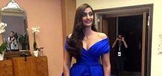 Sonam Kapoor goes Blue Dress for Cannes red Carpet