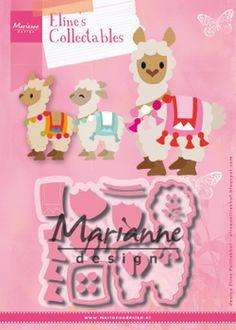 marianne design alpaca - Google Zoeken Marianne Design Cards, Llama Birthday, Punch Art, Paper Cards, Paper Piecing, Felt Crafts, Paper Crafting, Mini Albums, Starters