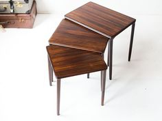 Vintage mimiset nestingtables rosewood | Vintage Furniture Base