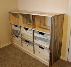 Toy Box - Blue Stain Pine