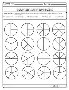3rd Grade Math Worksheets, Fractions Worksheets, Printable Worksheets, Teaching Math, Maths, Math Class, Math For Kids, Math Activities, Mathematics