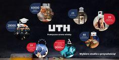Ciekawa infografika UTH. Jest to uczelnia kształcąca praktycznie oraz dająca wartościowy zawód.