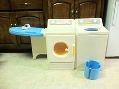 Vintage Little Tikes Wasshing Machine, Dryer AND Ironing Board Set. Where  Do I Get  Little Tikes Kitchen Set