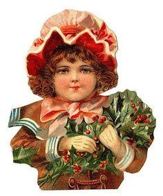 Victorian Scrap — Christmas Girl (424×512)
