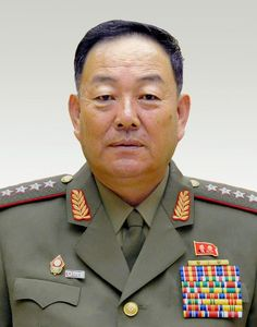 North Korean Defense Minister Hyon Yong-Chol, pictured at the Mansudae Assembly Hall in Pyongyang