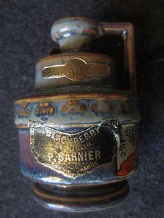 Vintage P. Garnier Pottery Blackberry Liqueur by kookykitsch, $15.00