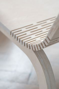 Polish designer Agnieszka Kowal created the Dango armchair with two ottomans that act as chair cushions or additional seating when guests are over. Plywood Chair, Plywood Furniture, Cheap Furniture, Luxury Furniture, Modern Furniture, Furniture Design, Flexible Wood, Living Hinge, Plywood Design