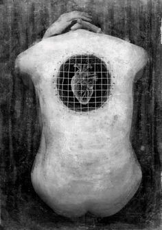 """Healing is a process of becoming whole - our spirit in alignment with our nature and intellect. Freeing our heart from the prison of dogma and brainwash. Living free. """"Caged heart"""", by Andrea Galluzzo"""