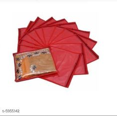 Checkout this latest Clothes Covers Product Name: *Non woven Single Garments Cover (Pack of 12) - Red* Material: Non-woven Pack: Multipack Product Length: 42 cm Product Breadth: 35 cm Product Height: 1 cm Country of Origin: India Easy Returns Available In Case Of Any Issue   Catalog Rating: ★3.9 (229)  Catalog Name: Trendy Clothes Covers CatalogID_900932 C131-SC1625 Code: 832-5955142-105