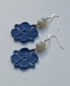 """The location where building and construction meets style, beaded crochet is the act of using beads to decorate crocheted products. """"Crochet"""" is derived fro Crochet Jewelry Patterns, Crochet Earrings Pattern, Crochet Bracelet, Bead Crochet, Crochet Accessories, Crochet Motif, Crochet Flowers, Crochet Jewellery, Crocheted Lace"""
