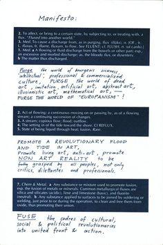 manifesto 1970, joseph beuys  *original written 1963, george maciunas
