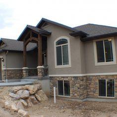 CF Olsen Homes, exterior, stucco, rock