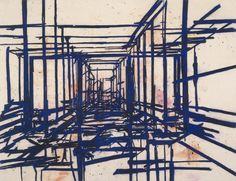 Architectural Spaces in Tony Bevan's Paintings – SOCKS Art Basel Hong Kong, A Level Art Sketchbook, Abstract Sketches, Organic Structure, Institute Of Contemporary Art, Royal Academy Of Arts, National Portrait Gallery, Space Architecture, Environmental Art