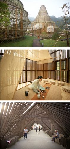 The first International Bamboo Architecture Biennale will leave behind twelve permanent structures in the small mountain village of Baoxi in China.