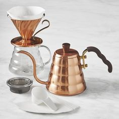 Hario Pour Over Kit, Copper #williamssonoma