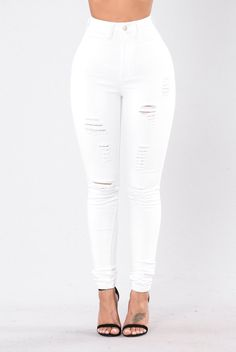 Hit The Freeway Jeans - White