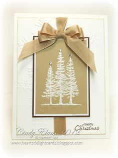 ~~Heart's Delight Cards~~: SU Lovely as a Tree in tan and brown.  Nice card.