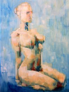 Art House Summer Exhibition 2012.  Samuel Durkin: 'Gia Kneeling'.  Acrylic on canvas - £134