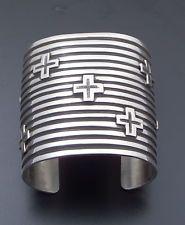 """Andy Cadman Cuff Bracelet Sterling Silver 2 3/8"""" Wide 6 1/2"""" Wrist"""