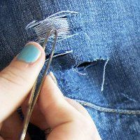 how to distess jeans tweezers Rock and Roll Style: How to Distress Jeans