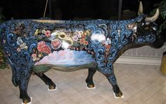2006 Wisconsin CowParade Rosy the Rosemooled Cow by Jan Norsetter