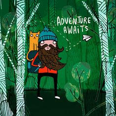 Adventure Awaits A4 digital print - unframed  Digitally printed on 200gsm and signed  Will come to you in a cellophane display packet  Check out the rest of our shop for more like this - katieabeydesign.etsy.com
