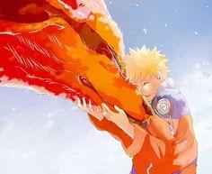 Naruto and kurama.