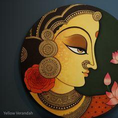 Pichwai Paintings, Mughal Paintings, Small Canvas Paintings, African Art Paintings, Tanjore Painting, Original Paintings, Namaste Art, Mandala Painting, Circle Painting