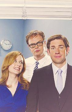 The Office: Jenna Fischer, Rainn Wilson, and John Krasinski