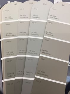 Sherwin Williams Gray Colors paint colors sherwin williams The Paint Picking Process: Exterior Edition Interior Paint Colors For Living Room, Exterior Paint Colors For House, Paint Colors For Home, Grey Interior Paint, Dining Room Paint, Farmhouse Paint Colors, Interior Rugs, Living Room Red, Kitchen Interior