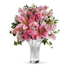 Teleflora's Celebrate Mom Bouquet Flowers (7.10 AUD) ❤ liked on Polyvore featuring home, home decor, floral decor, flowers, plants, decor, backgrounds, floral, filler and pink bouquet