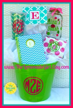personalized gift basket for teens