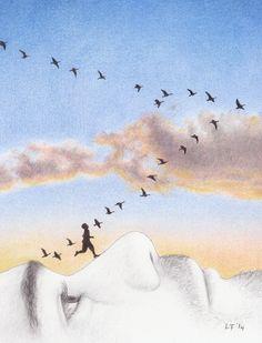 Takeoff by Lars Furtwaengler | Colored Pencil | 2014