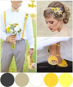 Voici une palette de couleurs sobre mais originale qui vous permettra de donner un air très élégant à votre mariage.
