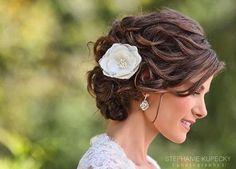 Silk  Katie flower adds a special something to your bridal look   http://www.angelicjewelry.com/katie-flower.html